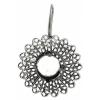 Filigree Earring Setting 33mm Sunflower Antique Silver